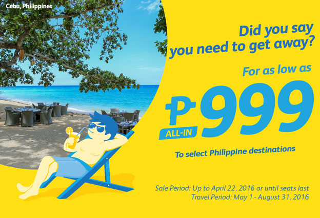 Cebu Pacific Promo for Only 999 ALL IN!