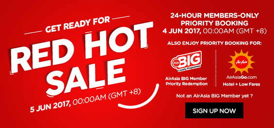 red hot airasia sale